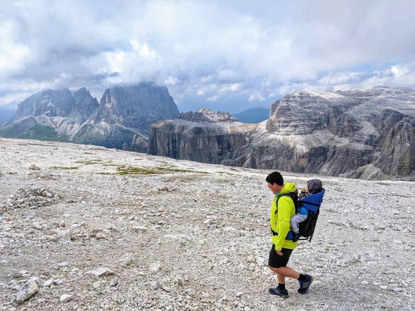 Na vrcholu Passo Pordoi
