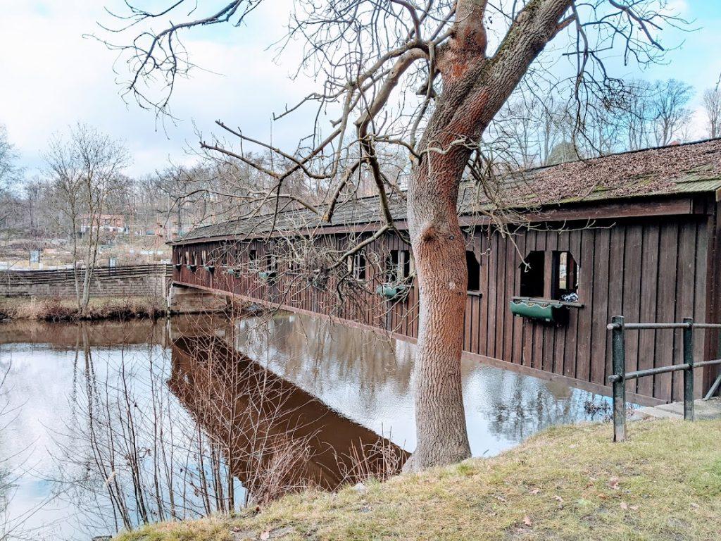 Dřevěný most přes Ohři