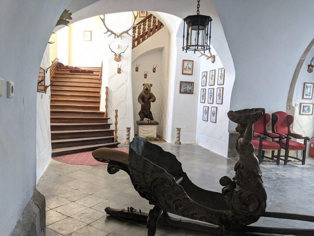 interiéry na zámku Blatná
